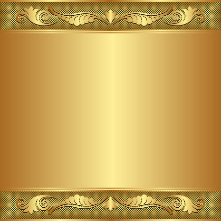 reflective: golden background with ornament