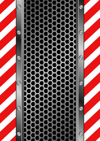 grate: danger symbol and grate background Illustration