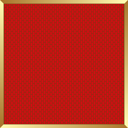 golden frame: red background with golden frame Illustration