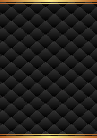 quilted fabric: black background with decorative pattern