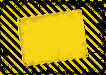 black yellow: danger background and skewed plaque Illustration