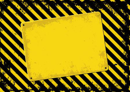 amarillo y negro: fondo peligro y placa sesgada