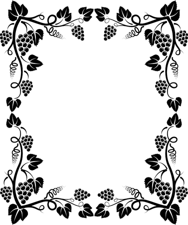grapevine: silhouette of grapevine frame