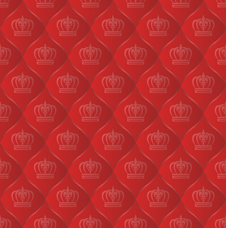 kingly: royal pattern seamless with crowns Illustration