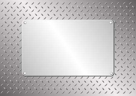 metal plaque on steel sheet Illustration