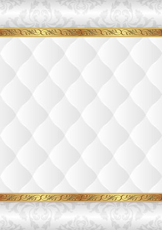 on white: ornamental background with white pattern Illustration