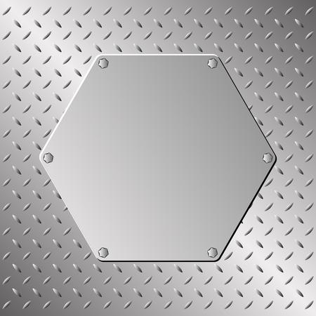 metalen plaatje op staalplaat