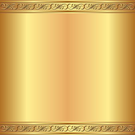 marcos decorados: fondo de oro con adornos de época