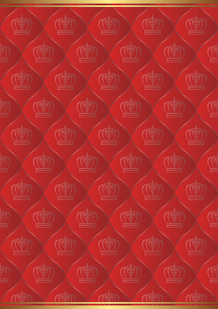 kingly: red background with royal pattern