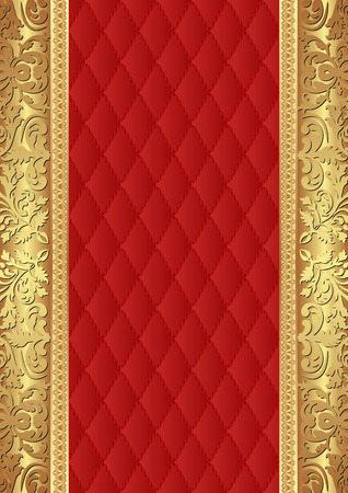 red gold: red background with golden ornaments