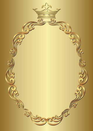 kingly: golden background with royal frame