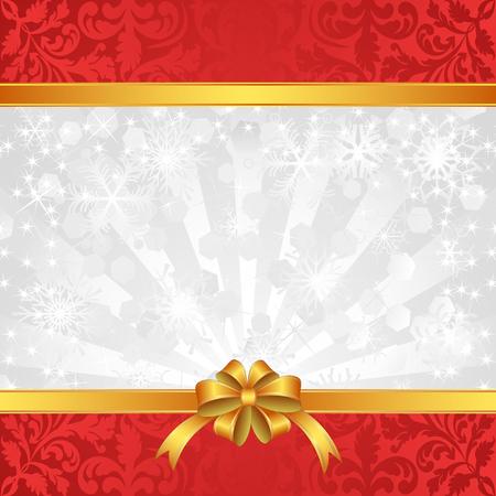 fondo para tarjetas: Fondo de Navidad con cintas y copos de nieve