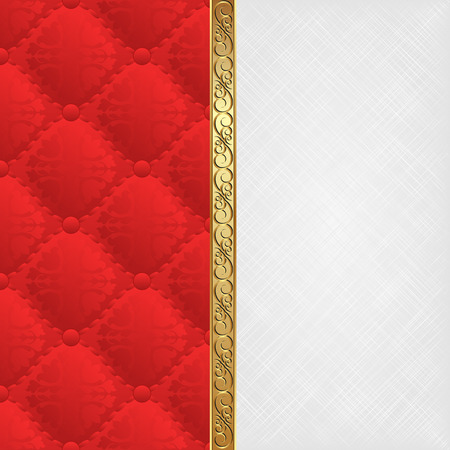divided: white texture and red pattern divided into two Illustration