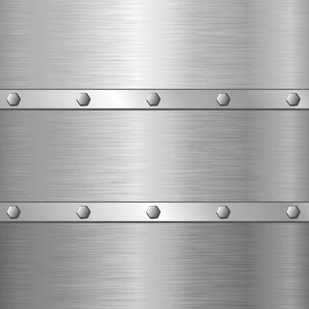 screws: metal background with screws Illustration