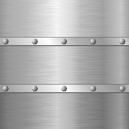 metal background with screws Illustration