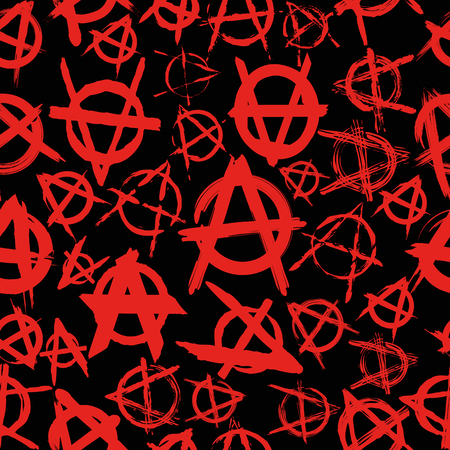 anarchist: seamless pattern with signs of anarchy