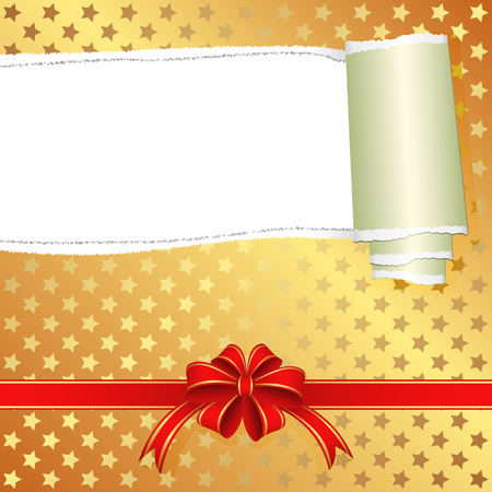 teared paper: gift box with torn paper and transparent space insert for text