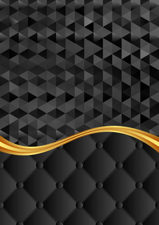 the divided: black background with pattern divided into two Illustration