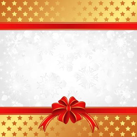 moños navideños: Fondo de Navidad con cintas y estrellas