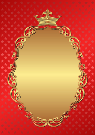 royal background: red background with royal frame