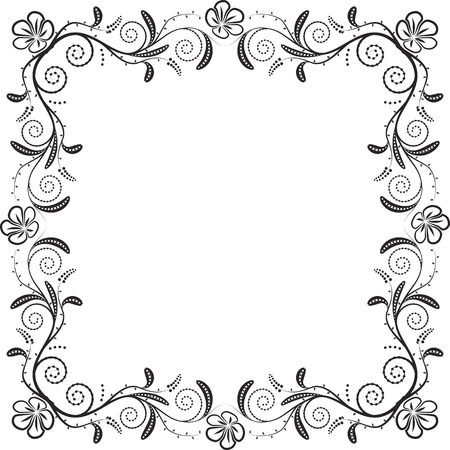 curve creative: silhouette of floral frame