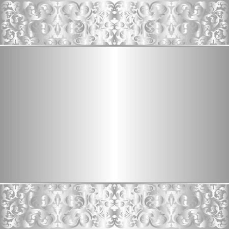 ornate background: ornate silver background