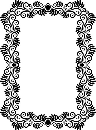 rectangular: isolated floral frame
