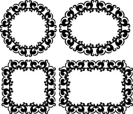 verzierten Rahmen Set
