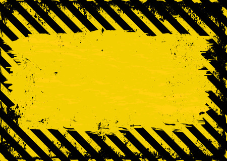 black yellow: grunge danger background