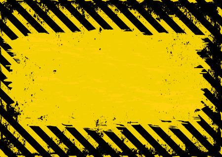 amarillo y negro: grunge fondo peligro