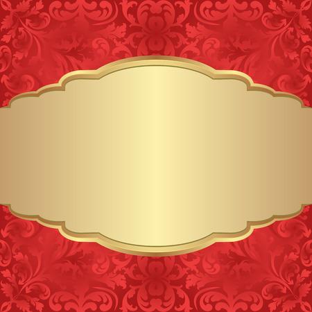 antique background: antique background with golden banner