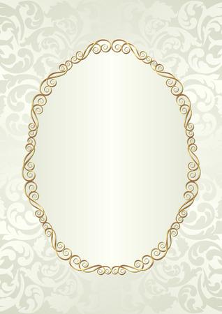 antique background: antique background with golden frame