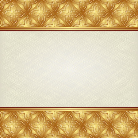 creamy: textured creamy background with antique ornament