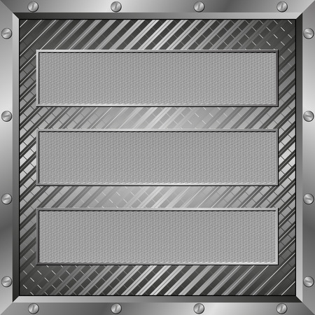 plaques: textured plaques with metal frame