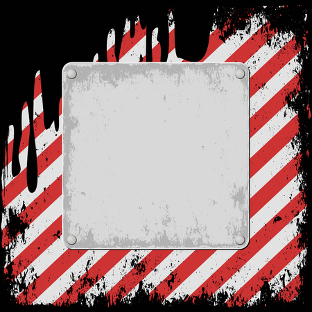 dangers: hazard background with grunge plaque Illustration