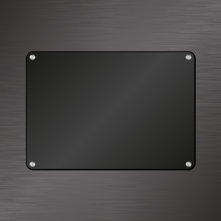 plaque: black plaque on textured background