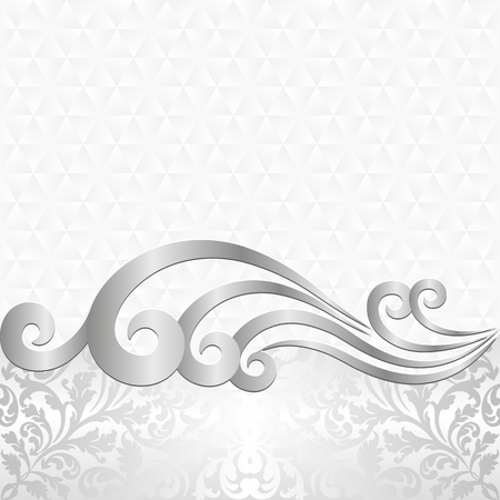 decorative design: white background with ancient ornaments