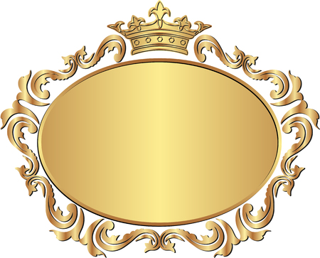 golden royal frame with crown