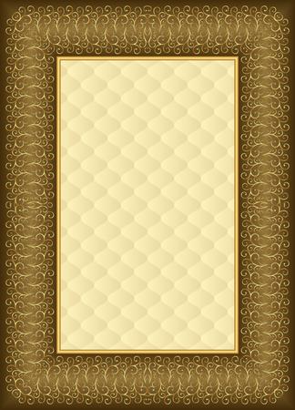 golden border: antique background with golden border Illustration