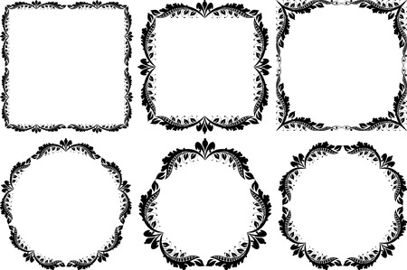 ensemble de cadres décoratifs - éléments de conception