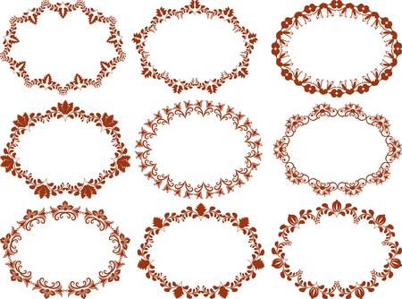 vignettes: floral frames collection