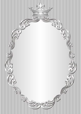 zilveren achtergrond met koninklijke kader