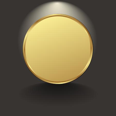 fond noir avec cercle d'or Vecteurs