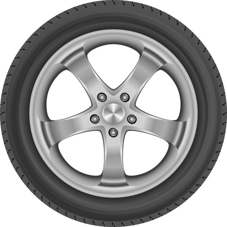 car tire: isolated car tire Illustration