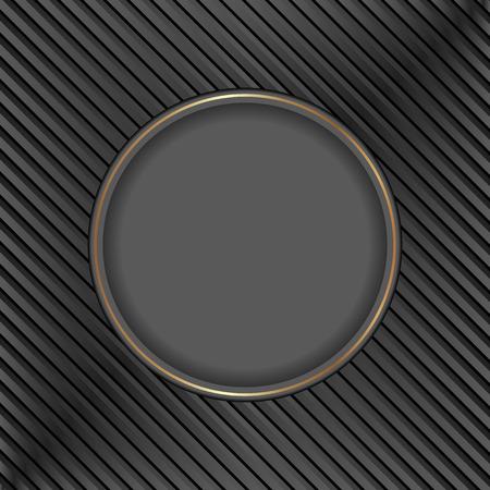 black: black background with black circle Illustration