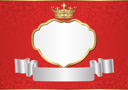 royal background: royal background with frame and crown