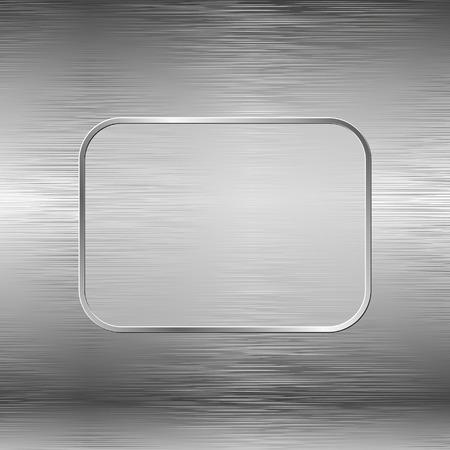 steel texture: steel texture and banner