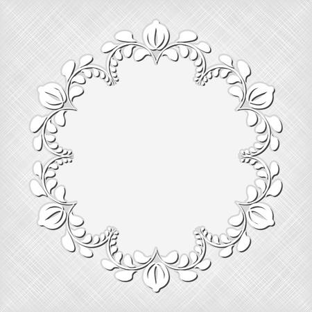 vintage floral frame: vintage background with floral frame