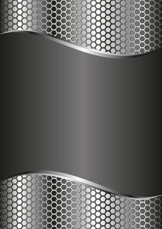 metal black: black background with metal grille