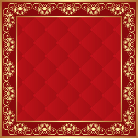 golden frame: red background with golden border